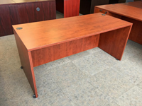 "66"" x 30"" straight front wood office desk"